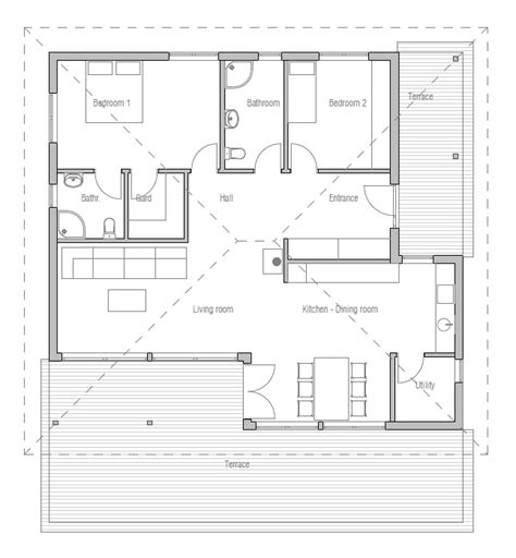new home floor plans for 2013 small house plan with two bedrooms and open planning