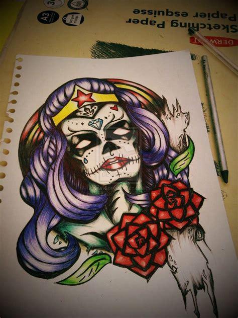 sugar skull woman tattoo designs sugar skull ink