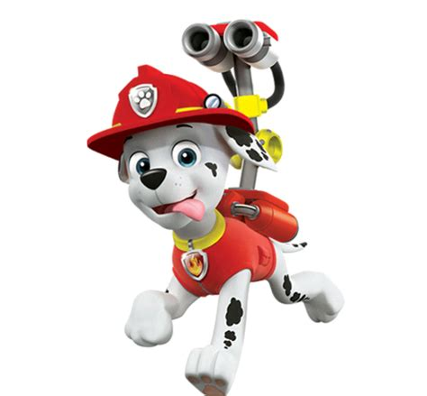 Paw Patrol Characters Paw Patrol Marshall And Paw Patrol Badge | marshall from paw patrol nick asia