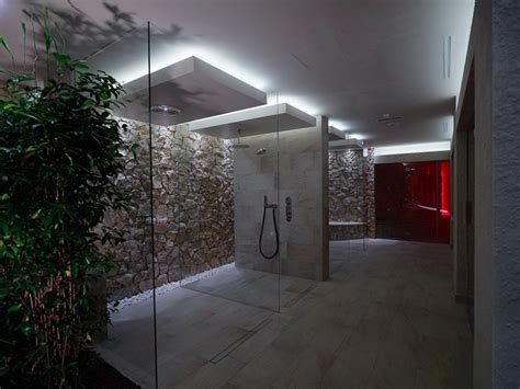 Hotel Spa Shower by Resort Spa Design Mid Cost Model