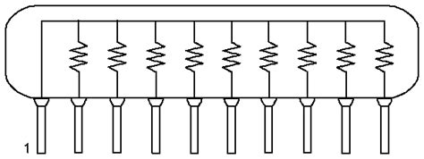 how to read resistor network resistor networks sip your choice of value 24 or 25 lot new usa shipping ebay