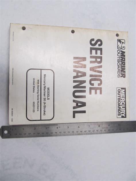 1994 Mercury Mariner Outboard Service Manual 50 Hp 4