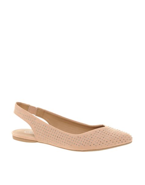river island flat shoes lyst river island jewelled pointed ballet flats in