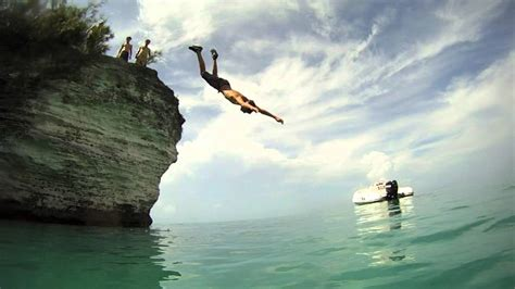 bermuda cliff jumping gopro hd youtube