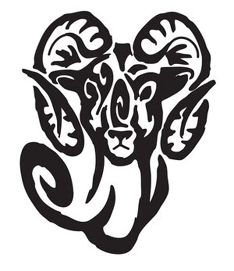 10 Awesome Aries Tribal Tattoos Only Tribal Tribal Aries Ram