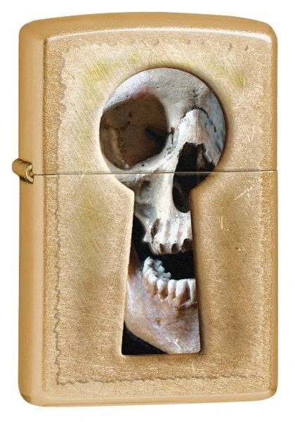 zippo keyhole skull gold dust lighter 28540 review and buy in dubai abu dhabi and rest of