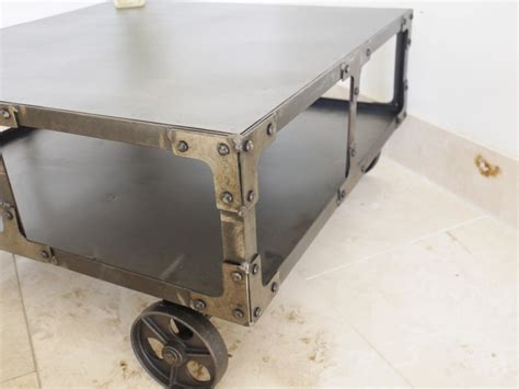 metal wheels for coffee table industrial metal coffee table on wheels melody maison 174