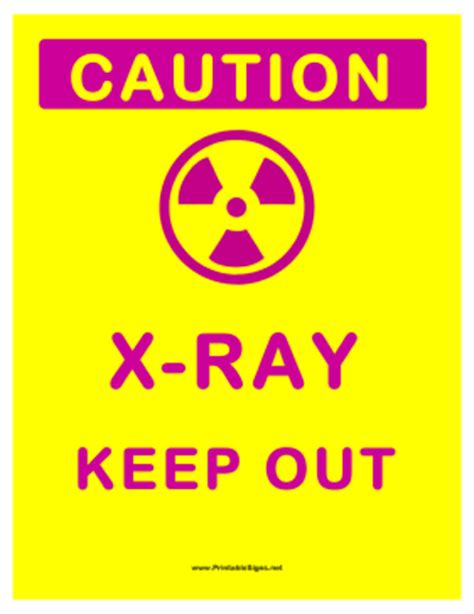 printable x ray signs printable x ray sign