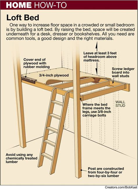 how to loft a bed how to build a bunk bed ladder woodworking projects plans