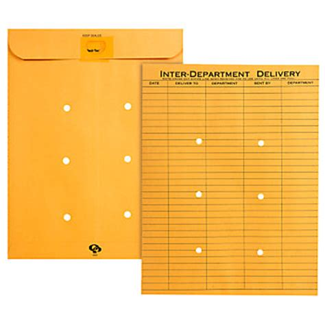 interdepartmental delivery template quality park 174 interdepartment envelopes 10 quot x 13 quot brown