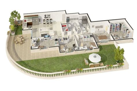 3d plan house 3d floor plans architectural render new york full 3d home