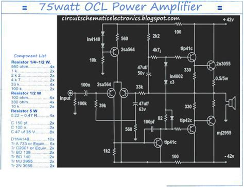 layout lifier ocl 150 watt mono 150w ocl power amplifier electronic circuit