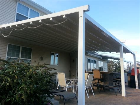 retractable awning for deck residential waterproof retractable patio awning