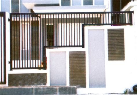 desain pagar minimalis modern 15 desain pagar minimalis modern terbaru contoh gambar rumah