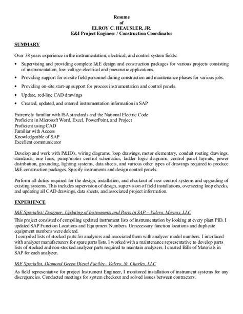 Sl Resumes by Resume Of Echeausler