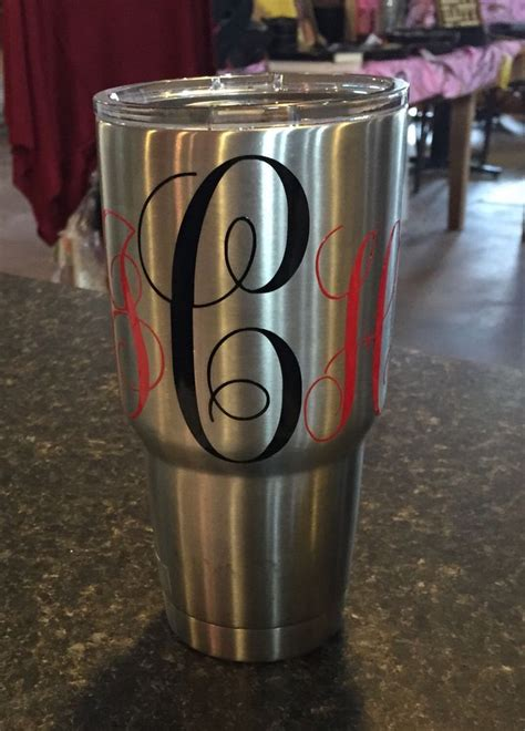 20 best images about Yeti cups on Pinterest   Monogram decal, Cars and College football