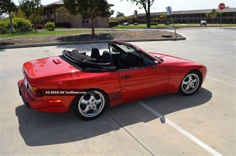 red porsche convertible 1989 porsche 944 s2 cabriolet related infomation