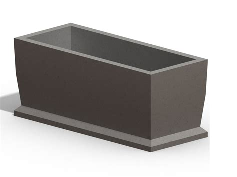 Large Rectangular Concrete Planters by Large Planters Concrete Planters Large Planter Concrete