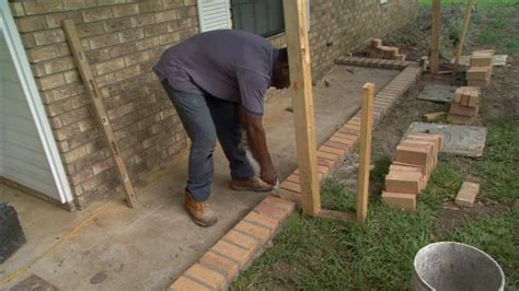 How to Lay Brick Pavers on a Concrete Slab Porch   Today's