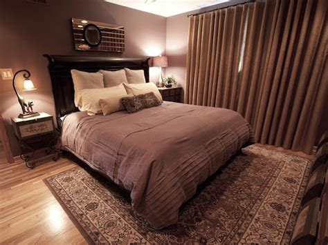 brown and purple bedroom serene bedroom with luxury fabrics hgtv