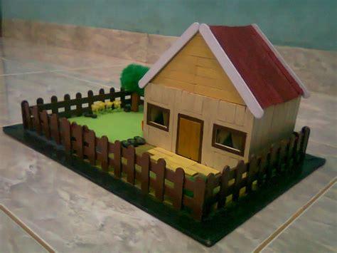 rumah adat sederhana dari stik es krim denah rumah rumah sederhana dari stik es krim dekorasi pinterest