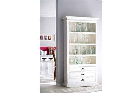 White Painted Solid Wood Bookcase Halifax White Bookcase For