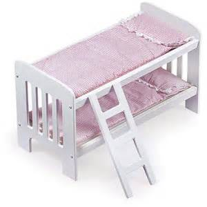 18 Doll Bunk Bed Badger Basket Doll Bunk Beds With Ladder Fits Most 18 Quot Dolls My As Walmart