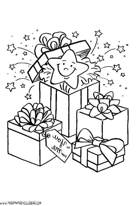 imagenes de navidad para colorear regalos dibujos navidad para colorear regalos 016