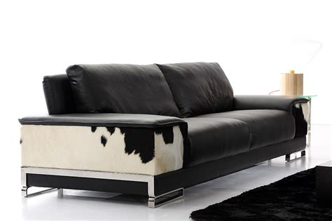 luxury living room cow cowhide leather sofa sets for