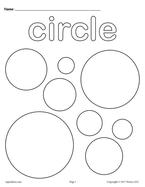 12 free shapes coloring pages circles squares