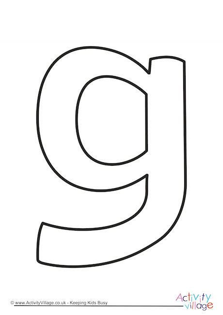 Lowercase G Coloring Page by Letter G Template Gallery Free Templates Ideas