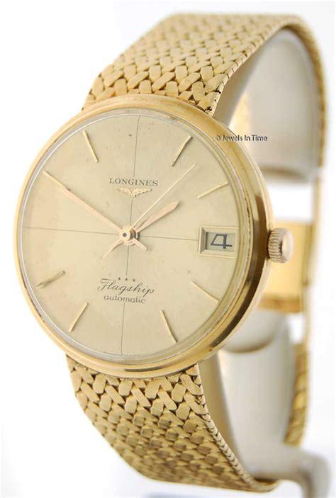 longines flagship automatic 18k gold bracelet ebay
