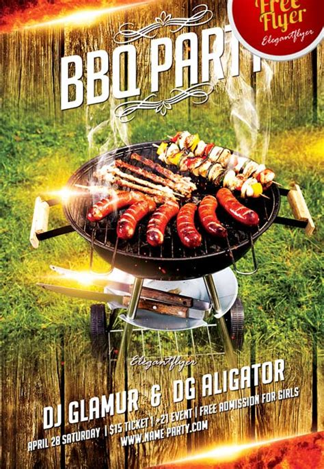 free bbq party flyer template download