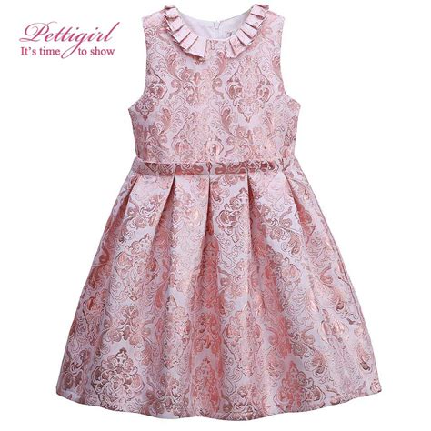 Dress Baby 02 Bunga Pink aliexpress buy pettigirl a line pink flower pleated dress jacquard summer baby