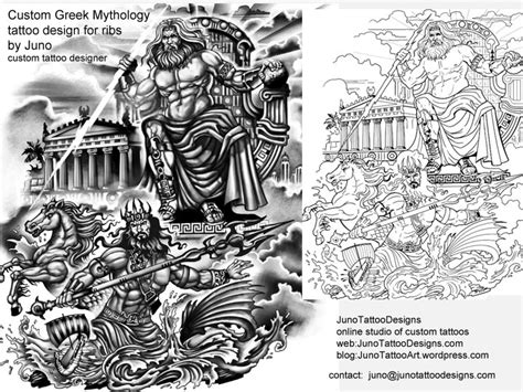 greek mythology tattoos custom tattoos made to order by