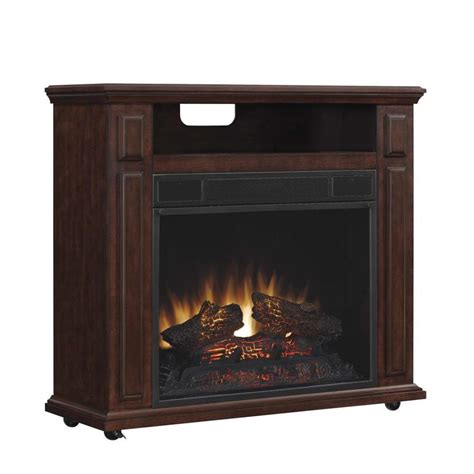 electric portable fireplace shop duraflame 31 5 in w 5200 btu cherry wood veneer