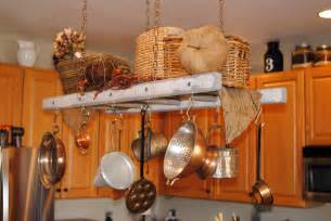 Ladder Pot Rack White With Gray Distressing Rustic Ladder Pot Rack Farmhouse