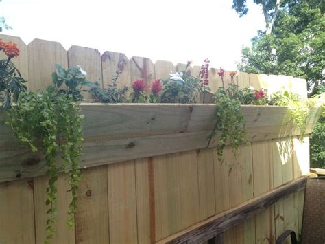 Planters On Fence by 15 Fence Planters That Ll You Loving Your Privacy