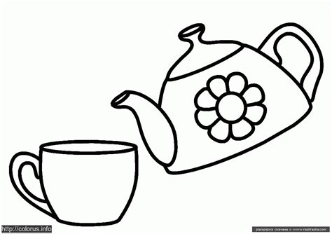 teapot and cup colouring pages az coloring pages