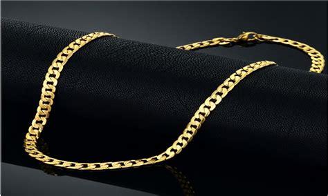 cadena de oro para hombre joyeria cadena lomo de acero para hombre enchapado en oro de 18k