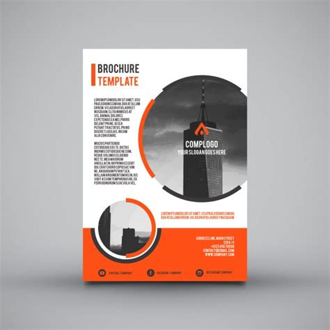 Leaflet Template by Leaflet Template With Orange Sections Vector Free