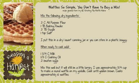 great easy waffles recipe dishmaps