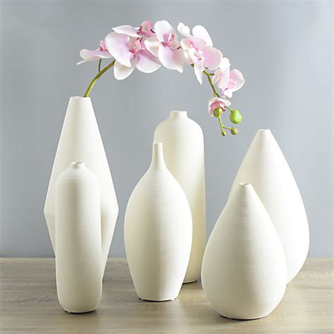 Flower Vase Decoration Home Home Decorations Furnishings Modern Minimalist White Pottery Vase Flower Holder Ceramic Thread