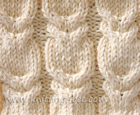 knit cable patterns branch cable stitch knitting bee