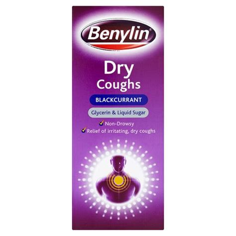 dry couch benylin dry cough blackcurrant 150ml groceries tesco