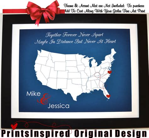 distance relationship valentines day gifts for him valentines day distance gift map by printsinspired