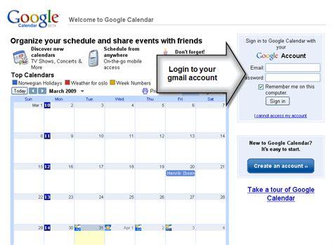 Calendar Login Adding A Calendar To