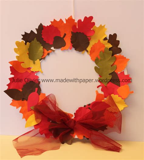 Fall Paper Plate Crafts - paper plate fall wreath crafts