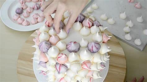 como decorar torta con merengue torta decorada con merengues