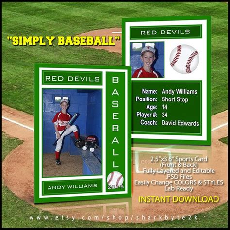 Baseball Card Template Free Photoshop by 2017 Baseball Sports Trader Card Template For Photoshop Simply
